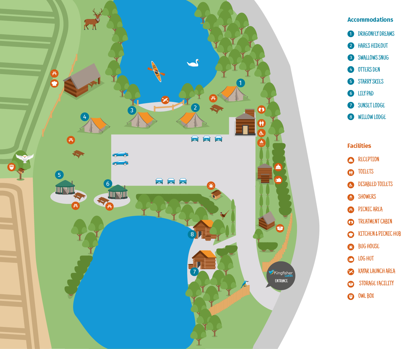 map of accomodation