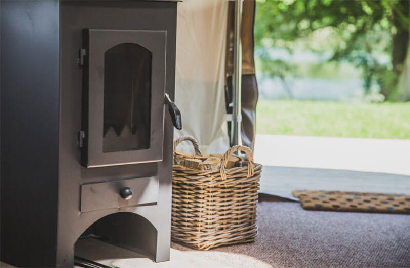 Luxury camping with cosy stoves