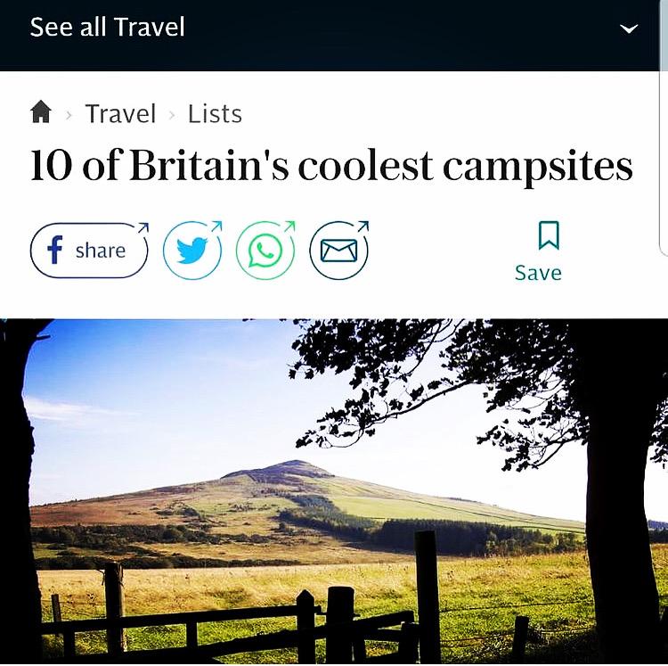 Britain's Coolest campsite